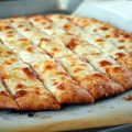 Pizza Garlic Bread with Mozzarella